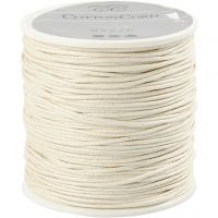 Cotton Cord, thickness 1 mm, off-white, 40 m/ 1 roll