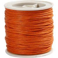 Cotton Cord, thickness 1 mm, orange, 40 m/ 1 roll
