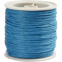 Cotton Cord, thickness 1 mm, turquoise, 40 m/ 1 roll