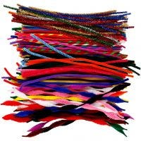 Pipe Cleaners, L: 30,5 cm, thickness 4-6 mm, 250 asstd./ 1 pack