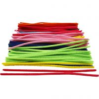 Pipe Cleaners, L: 30 cm, thickness 6 mm, 200 asstd./ 1 pack