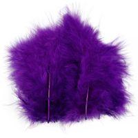 Feathers, size 5-12 cm, purple, 15 pc/ 1 pack