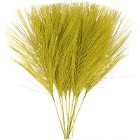 Artificial feathers, L: 15 cm, W: 8 cm, green, 10 pc/ 1 pack