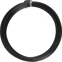 Aluminium Wire, round, thickness 2 mm, black, 10 m/ 1 roll