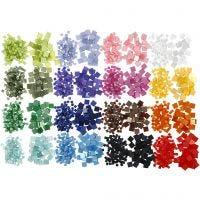Mini Mosaic, size 5x5+10x10 mm, thickness 2 mm, 32x25 g/ 1 pack