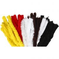 Pipe Cleaners, L: 40 cm, thickness 30 mm, assorted colours, 48 pc/ 1 pack
