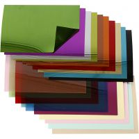 Sequin Foil Sheets, 15,8x11 cm, thickness 0,25 mm, 20 ass sheets/ 1 pack