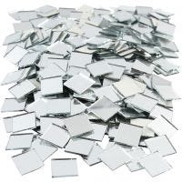 Mirror Mosaic Tiles, size 16x16 mm, thickness 1 mm, 500 pc/ 1 pack