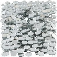 Mirror Mosaic Tiles, round, D: 10 mm, thickness 2 mm, 500 pc/ 1 pack