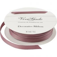 Decoration Ribbon, W: 6 mm, rose, 15 m/ 1 roll