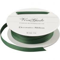 Decoration Ribbon, W: 6 mm, green, 15 m/ 1 roll