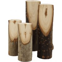 Decorative tree branch cut at an angle, H: 8+12 cm, D: 2,5-3,5 cm, 4 pc/ 1 pack