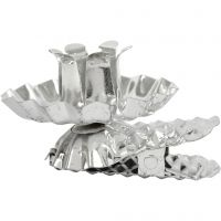 Clip on candle holder, D: 40 mm, silver-plated, 8 pc/ 1 pack