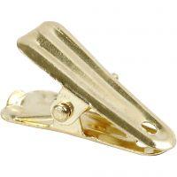 Decorative pegs, L: 27 mm, W: 14 mm, gold, 10 pc/ 1 pack