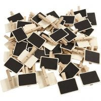 Blackboard with clothes peg, size 6,8x4,7 cm, 100 pc/ 1 pack