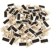Blackboard with clothes peg, size 4x2 cm, 100 pc/ 1 pack