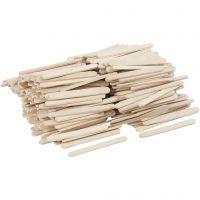 Ice Lolly Sticks, L: 5,5 cm, W: 6 mm, 400 pc/ 1 pack