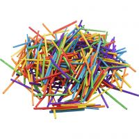 Matchsticks, L: 5 cm, assorted colours, 500 g/ 1 pack, 4300 pc