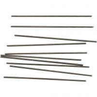 Metal Bar, L: 10 cm, D: 2 mm, 10 pc/ 1 pack