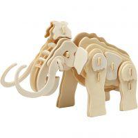 3D Construction figure, mammoth, size 19x8,5x11 cm, 1 pc