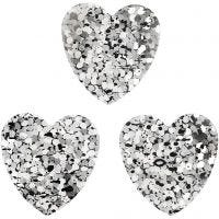 Sequins, size 15 mm, silver, 10 g/ 1 pack