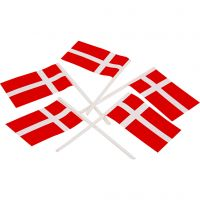 Cake Flags, size 30x50 mm, 100 pc/ 1 pack