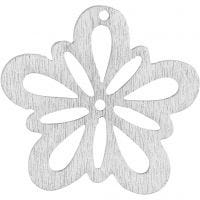 Flower, D: 27 mm, thickness 1,7 mm, off-white, 20 pc/ 1 pack