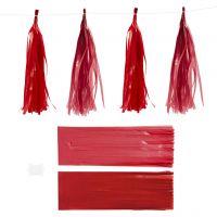 Paper Tassel, size 12x35 cm, 14 g, claret/red, 12 pc/ 1 pack