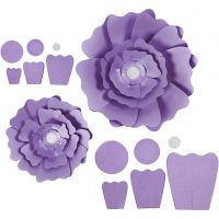 Paper Flowers, D: 15+25 cm, 230 g, purple, 2 pc/ 1 pack