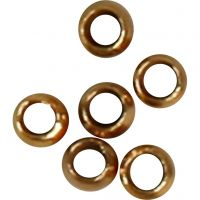 Crimp Beads, D: 2 mm, gold-plated, 1000 pc/ 1 pack