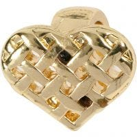 Heart, size 13x11 mm, gold-plated, 1 pc