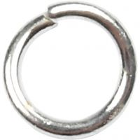 Jump Ring, size 4,4 mm, thickness 0,7 mm, silver-plated, 500 pc/ 1 pack