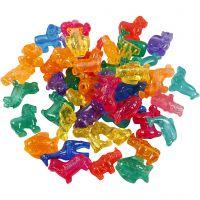 Novelty Shape Beads, size 25 mm, hole size 4 mm, 1000 g, assorted colours, 2000 ml/ 1 tub