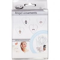 Angel Ornaments, H: 3,5 cm, 8 pc/ 1 pack