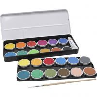 PRIMO watercolour paints, D: 30 mm, assorted colours, 2x12 pc/ 1 pack