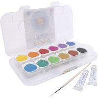 PRIMO watercolour paints, D: 30 mm, assorted colours, 12 pc/ 1 pack