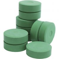 Tempera paint blocks, H: 19 mm, D: 57 mm, green, 10 pc/ 1 pack