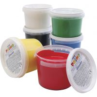 PRIMO finger paint, assorted colours, 6x100 ml/ 1 pack