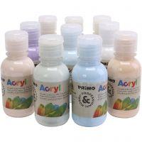 PRIMO luxury acrylic paint, pastel colours, 10x125 ml/ 1 pack