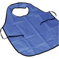 Painting apron with collar, L: 100 cm, size M-XL cm, blue, 10 pc/ 1 pack