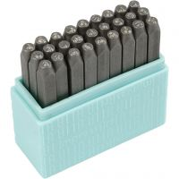 Embossing Stamps, Small letters, size 3 mm, Font: Bridgette , 27 pc/ 1 set