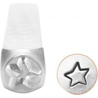 Embossing Stamp, Star, L: 65 mm, size 3 mm, 1 pc