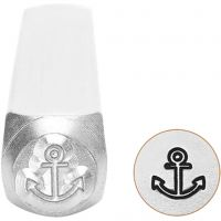 Embossing Stamp, Anchor, L: 65 mm, size 6 mm, 1 pc