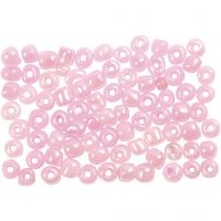 Rocaille Seed Beads, D: 4 mm, size 6/0 , rose, 500 g/ 1 pack