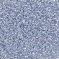 Rocaille Seed Beads, D: 1,7 mm, size 15/0 , hole size 0,5-0,8 mm, light blue, 500 g/ 1 bag