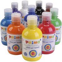 Textile paint, assorted colours, 10x300 ml/ 1 pack