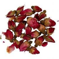 Dried flowers, Rosebuds, L: 1 - 2 cm, D: 0,6 - 1 cm, dark pink, 1 pack