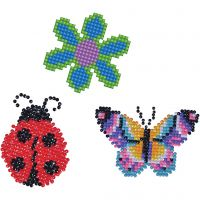 Diamond Dotz, flower, butterfly, lady bug, size 18x10 cm, 1 pack