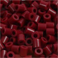 Fuse Beads, size 5x5 mm, hole size 2,5 mm, medium, claret (32239), 1100 pc/ 1 pack