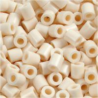 Fuse Beads, size 5x5 mm, hole size 2,5 mm, medium, light beige (32251), 1100 pc/ 1 pack